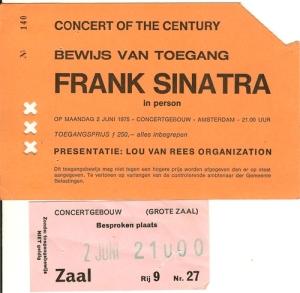 Ticket Frank Sinatra Concert