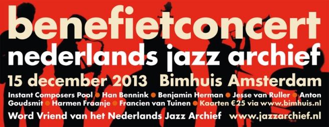 Benefiet Nederlands Jazz Archief